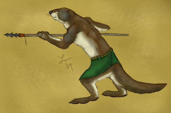 Otter Warrior by Cheddarness8