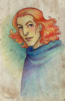Gawain colour pencil sketch