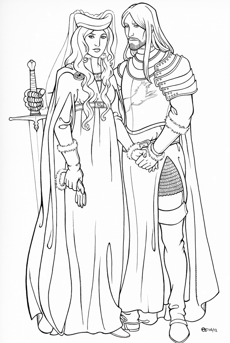 Q Line Art : Lord ned and lady cat line art by sigune on deviantart
