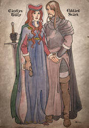 Lord and Lady Stark by Sigune