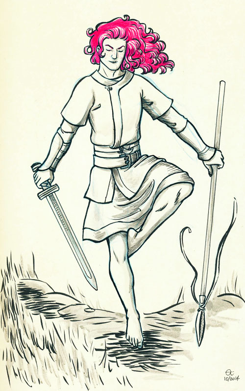 Inktober 13: Young Gawain by Sigune