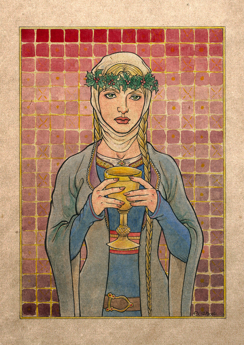 Lady Kundry Holding the Grail by Sigune