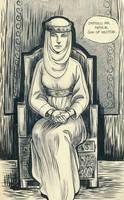 Morgause Inking Test by Sigune
