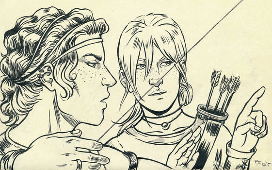 Inktober 2015: Gawain and Gwen
