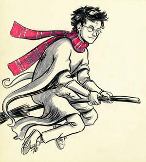 Harry Flies (Inktober)