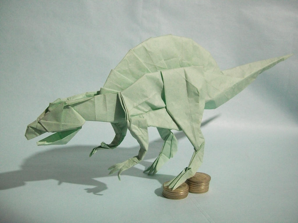 Origami Spinosaurus Satoshi Kamiya By LHwZ