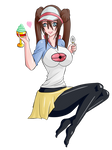 Mei eating ice cream