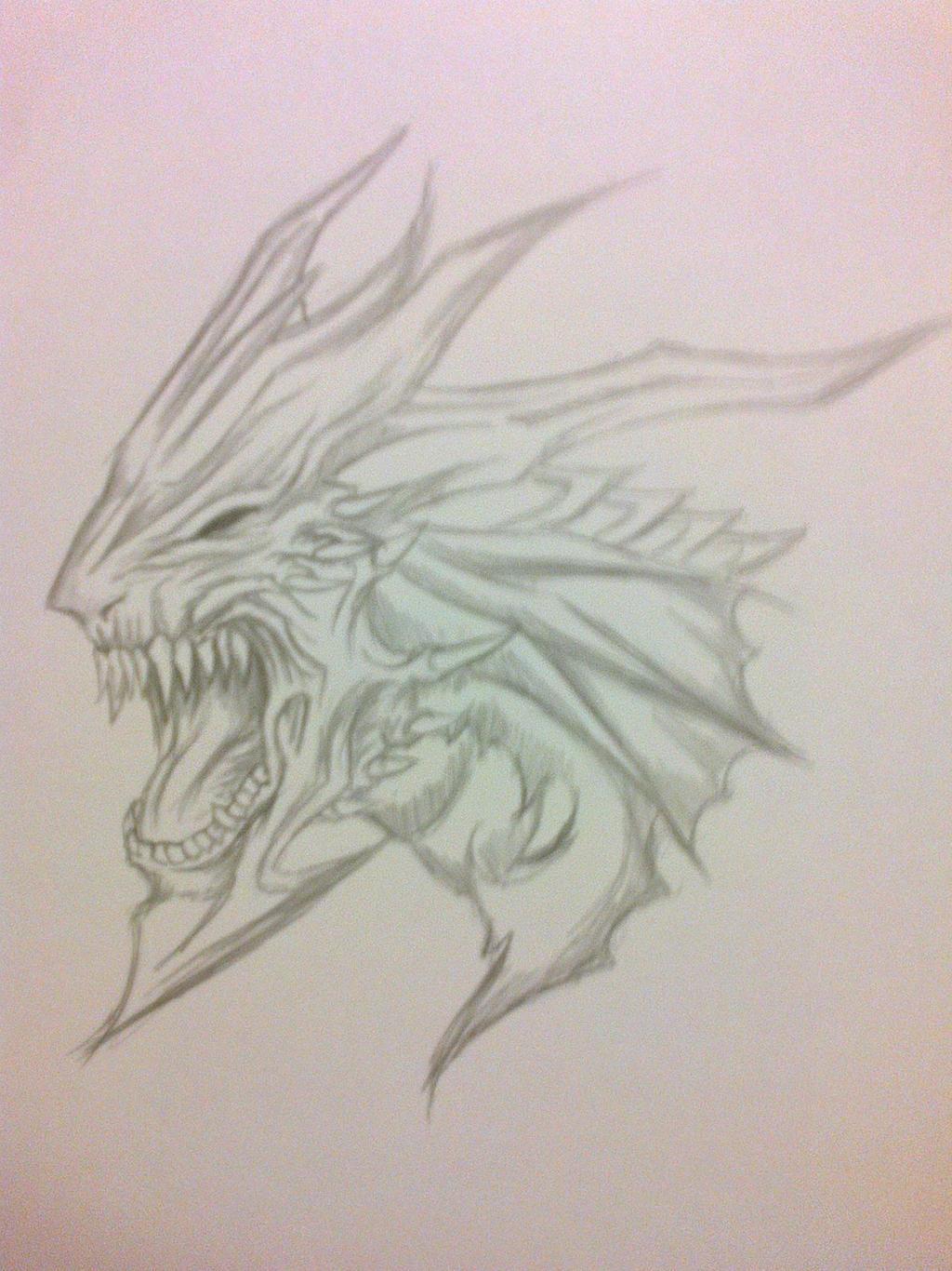 Dragon head rapid skech 2 by War-Off-Evil on DeviantArt