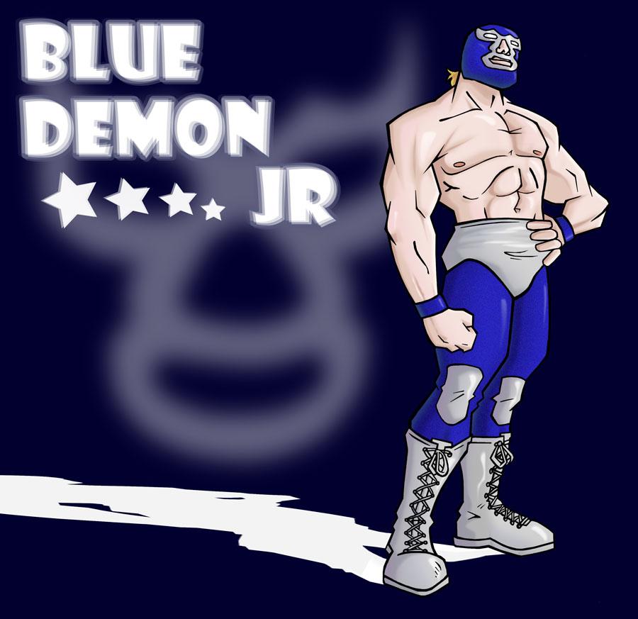 Blue Demon Jr By El Hino On Deviantart