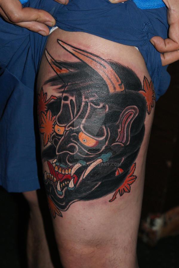 Japanese Mask tattoo by djRimzi on DeviantArt