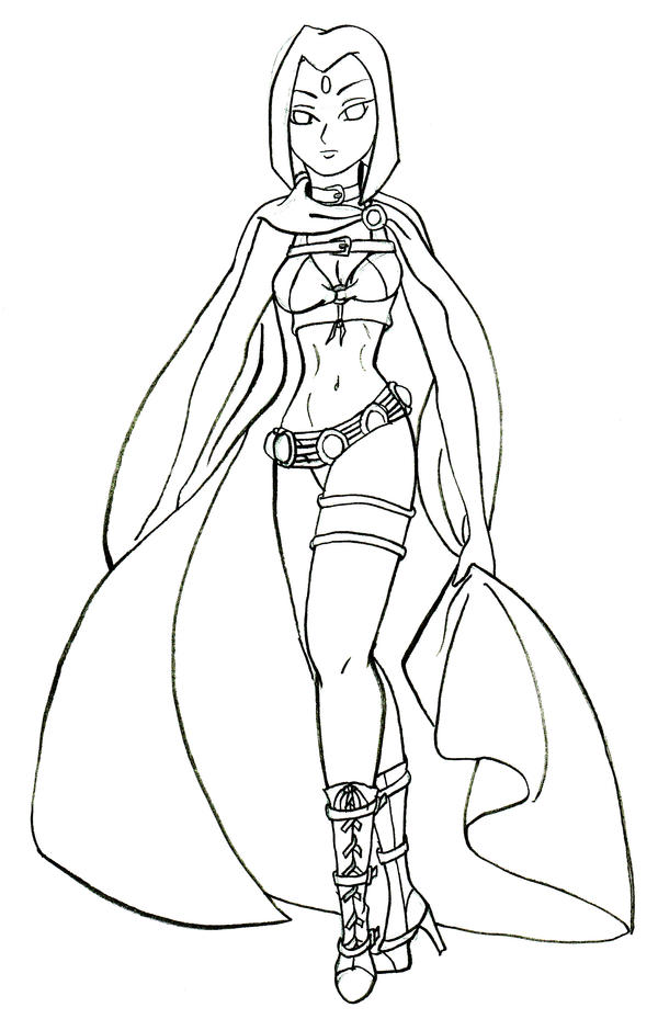 Line Drawing Raven : Raven line drawing by enkeli on deviantart