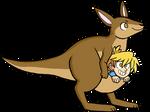 A Kangaroo and her Joey (Wheeler)