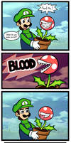 Luigi Shop Of Horrors by mewtwo365
