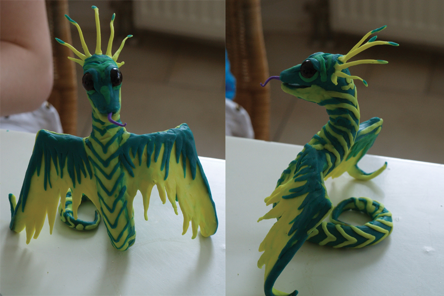 Wind Serpent Clay by necrisidragon