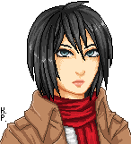 Mikasa Pixel by Karmikosmic