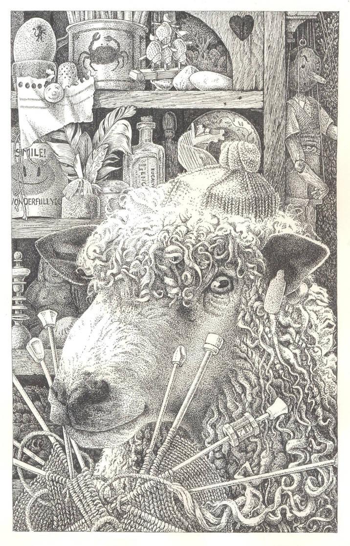 knitting sheep by maryanne42