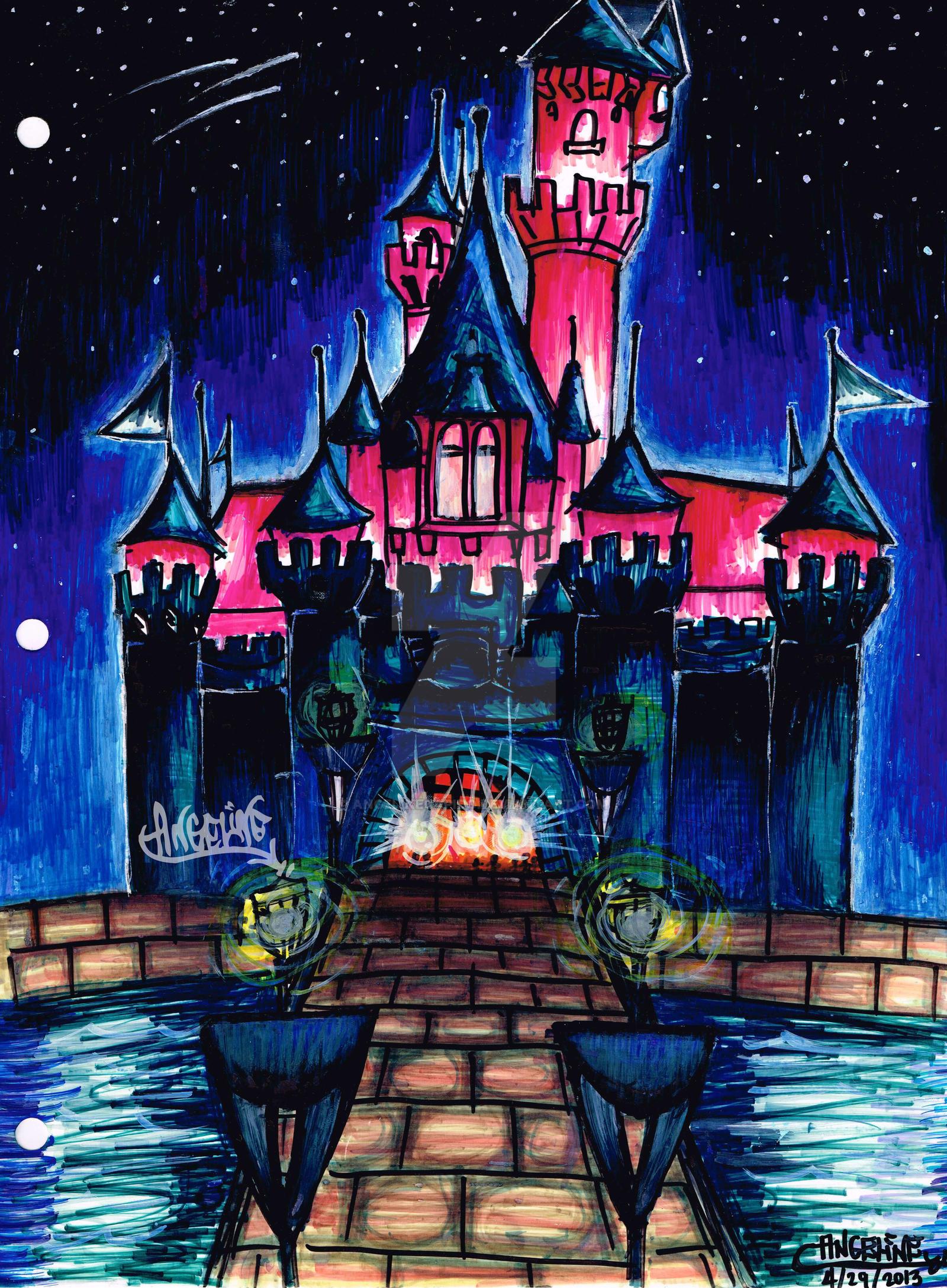 Le chateau de la belle au bois dormant by angelinegapido on deviantart - Chateau la belle au bois dormant ...