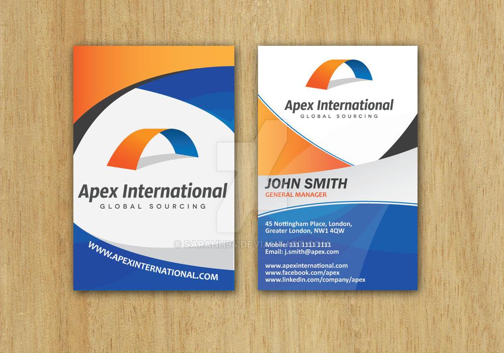 Apex Business Card Design by Sarahh94 on DeviantArt