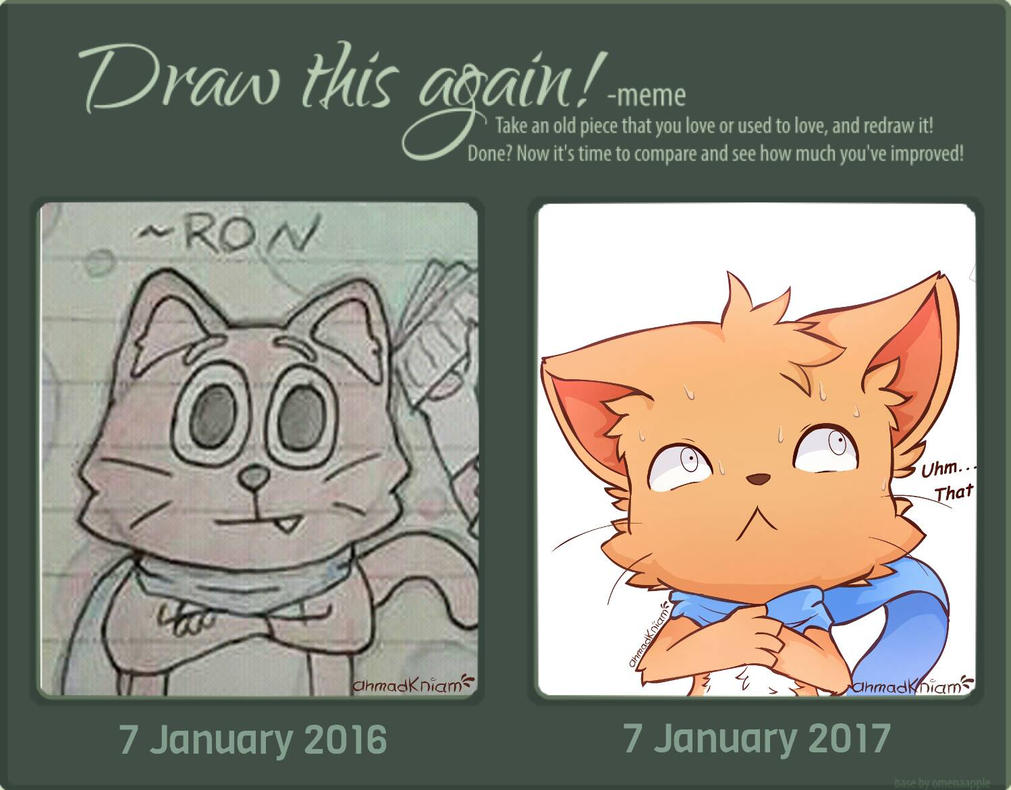 Draw This Again Meme-Redraw Ron by AhmaNiam