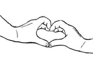 tcest hand heart lineart by looney girl2772 on deviantart