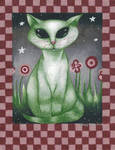 Folk Art Alien Hybrid Cat
