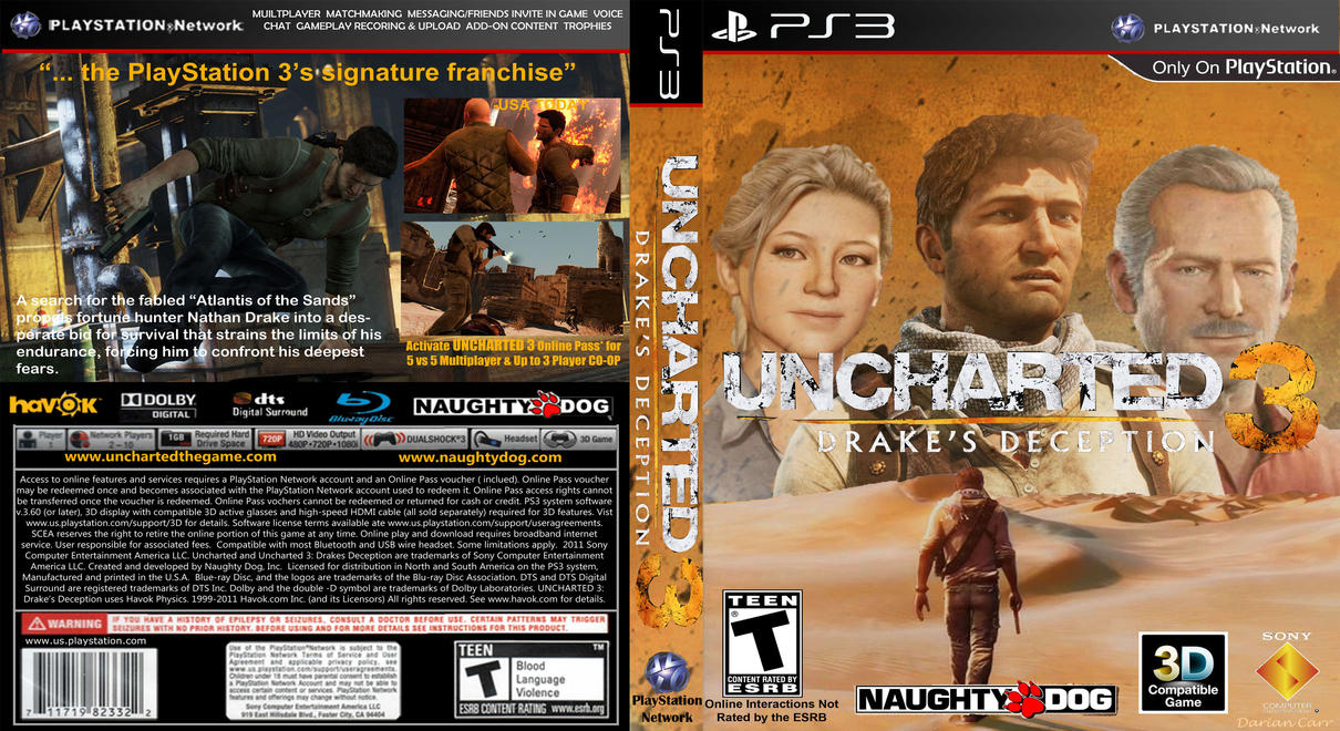 Uncharted 3 Cover