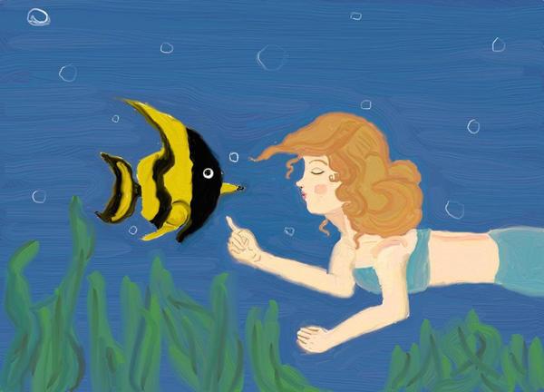 Fishy Kiss by anelphia