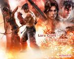 Jin Kazama and Lara Croft wallpaper