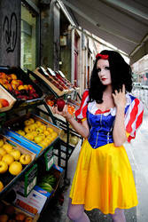 Snow White at the Grocery Store by flop404