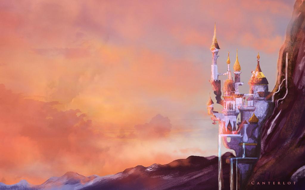 Canterlot sunset - wallpaper