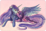water colored kisses by CosmicUnicorn