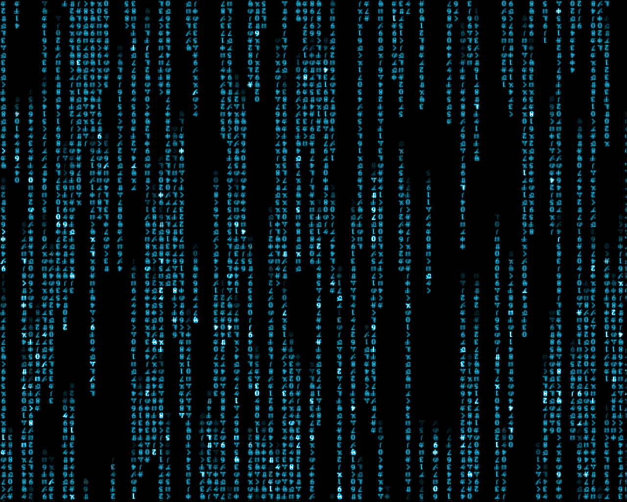 Matrix wallpaper moving blue