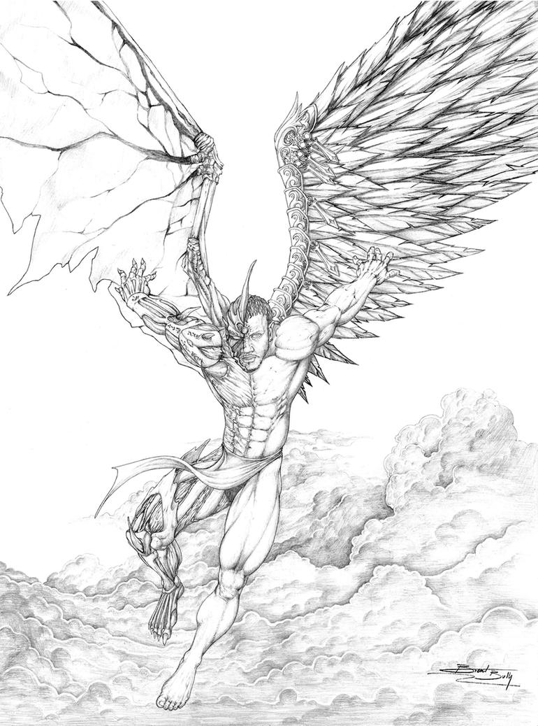 Angel Face Line Drawing : Dark angel by galisb on deviantart
