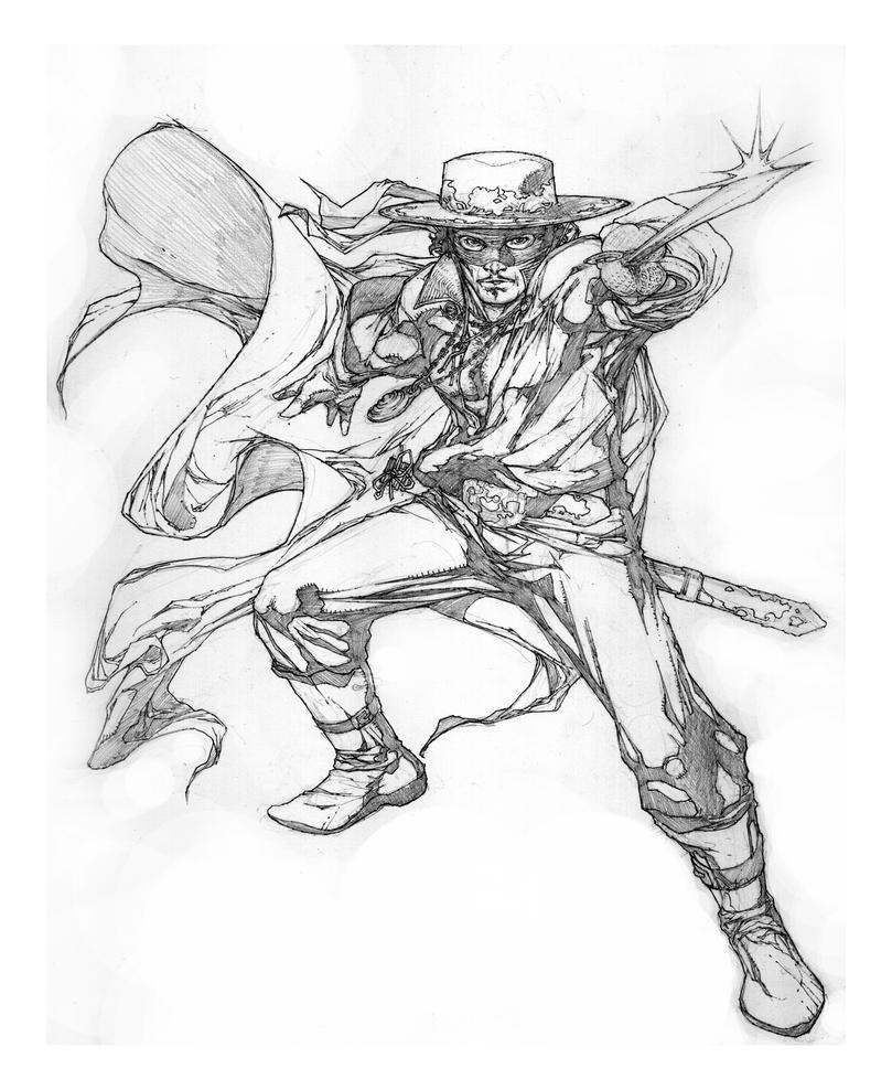 Zorro Sketch 1 By Noelrodriguez