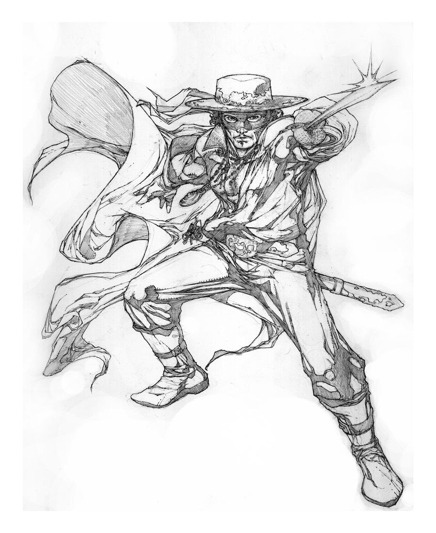 Coloring pages zorro