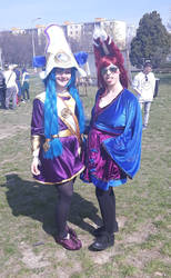 Cosmic Lulu and Xayah in kimono