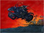 Alien Biker by tomzoo