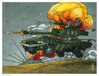 Dodge Vickers Muscle Battle Tank Challenger MkIII by tomzoo