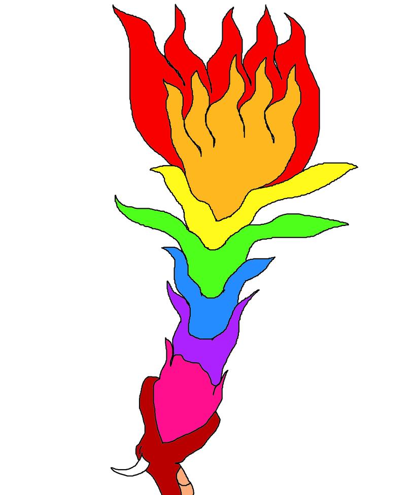 George Kingsley Rainbow Fire Breath by ProtanaArchives94