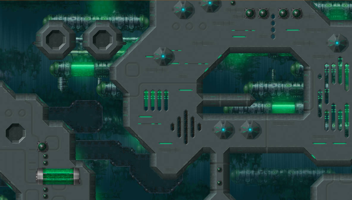 Iridium - Uridium game - Map - Acidic Ocean by inventivedreams