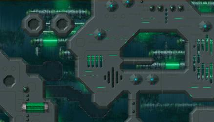 Iridium - Uridium game - Map - Acidic Ocean