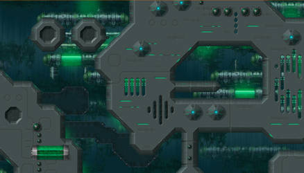 Iridium - Uridium game - Map - Acidic Ocean