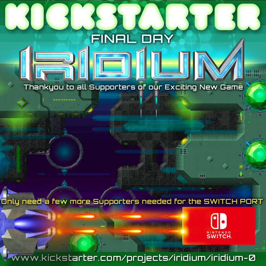 IRIDIUM Game - Kickstarter Last Day by inventivedreams