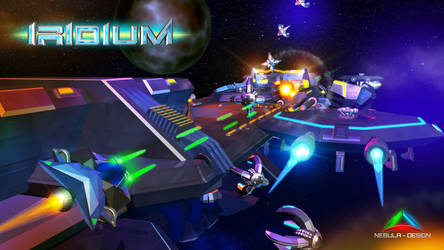 IRIDIUM - shoot em up - Promo graphics