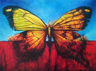 Butterfly In Landscape