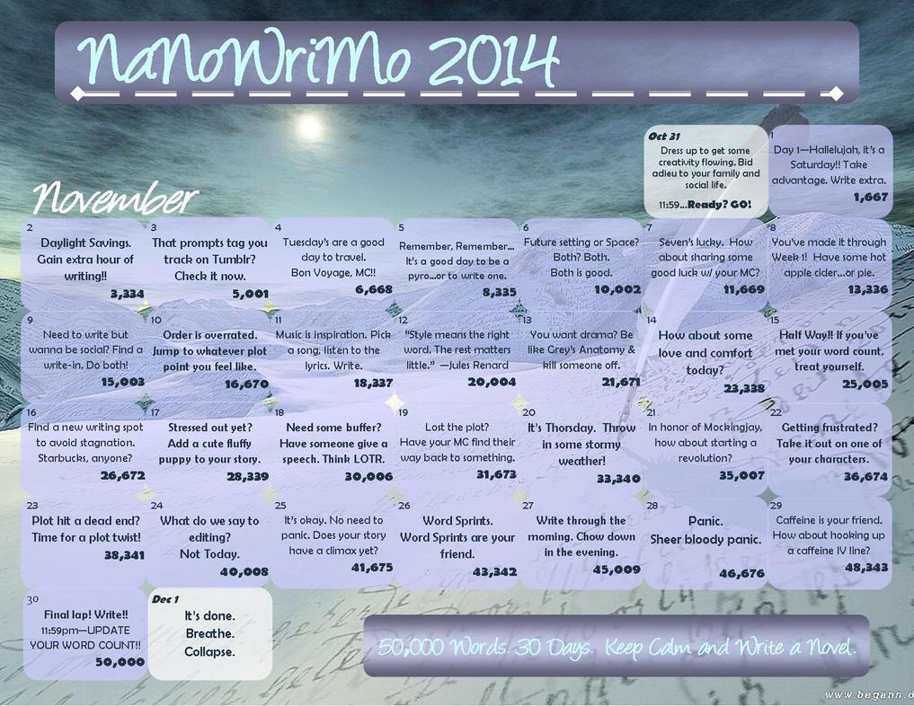 NaNoWriMo 2014 blue mountain by WalkingInDarkness737