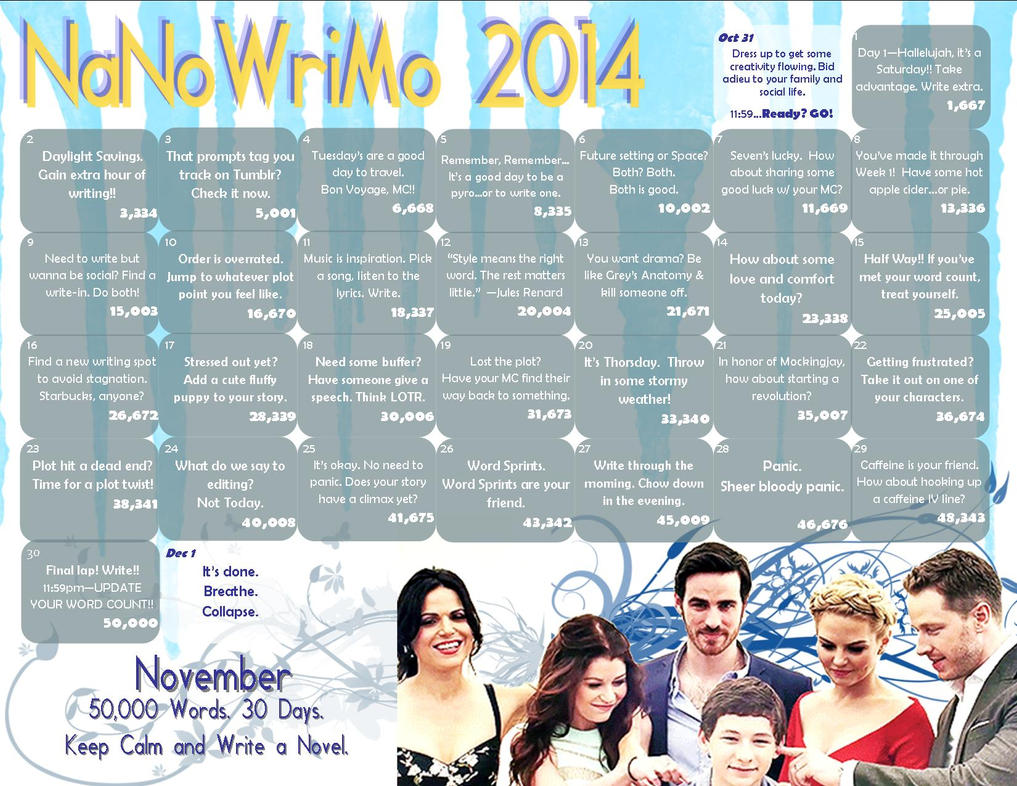 NaNoWriMo 2014 - Once Upon A Time by WalkingInDarkness737