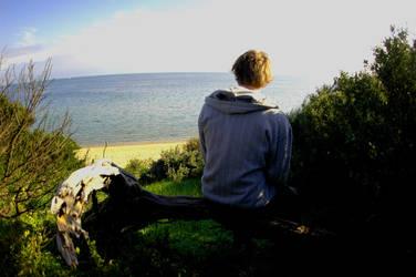 liam at beach