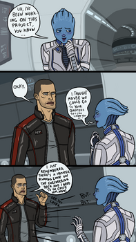 ME3: Sexually Reluctant Shepard - Liara