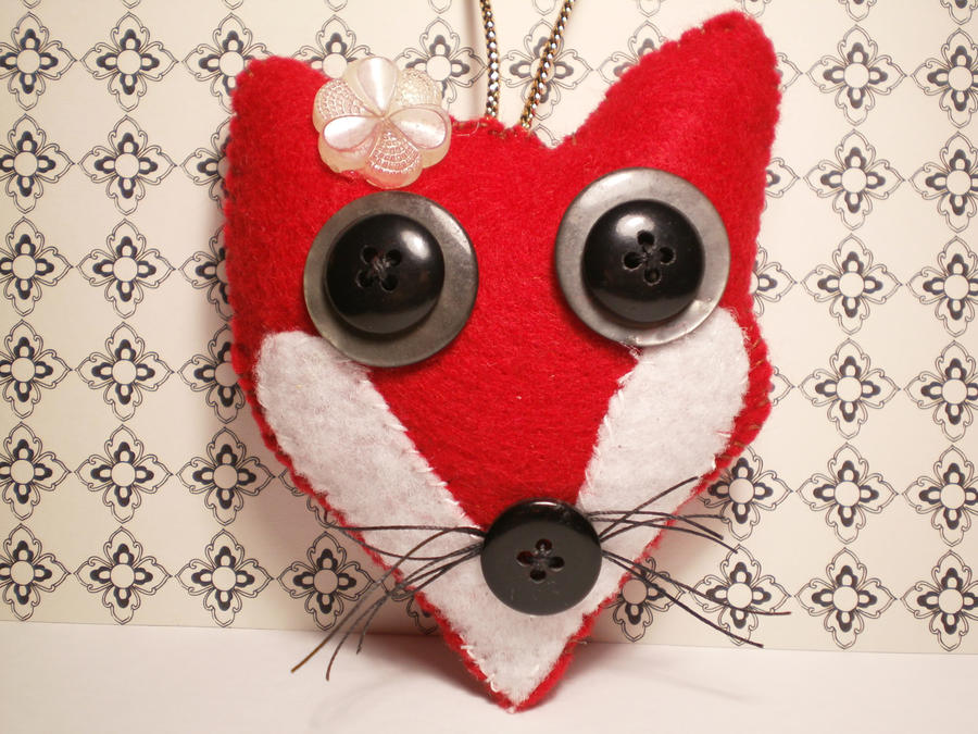 little miss red fox hand stitched felt ornament by inkydreamz on deviantart. Black Bedroom Furniture Sets. Home Design Ideas